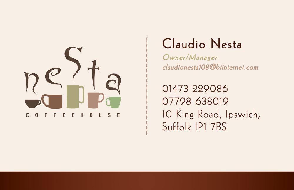 Nesta Coffee Branding & Business Cards   Thomas Alan Jones